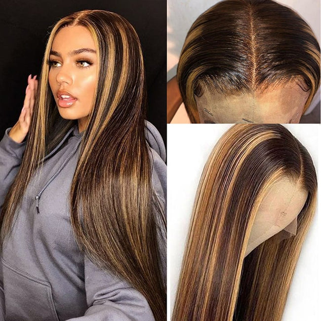 Colored  Lace Frontal Human Hair Wigs