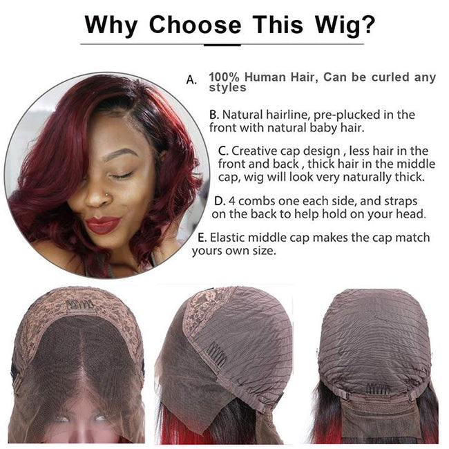 ombre wigs with 100% indian human hair