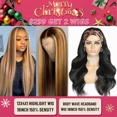 BUY ONE GET 2 WIGS 2021 POPULAR HIGHLIGHT HONEY BLONDE WIG GLUELESS BODY WAVE HEADBAND WIGS