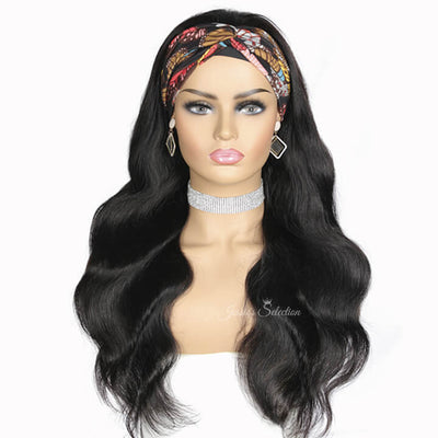 Body Wave Headband Wigs Brazilian Body Wave Virgin Hair