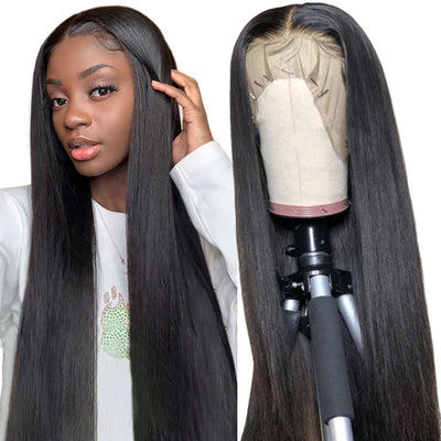Straight Human Hair Wigs Body Wave Lace Front Wigs 100% Brazilian Virgin Human Hair