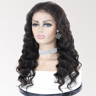 360 Lace Front Wigs 24INCH Loose Wave Human Hair Wigs For Black Women 2043