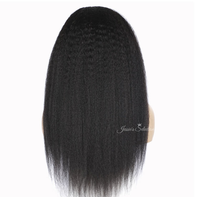 Long and Thick Headband Wig Human Hair Kinky Straight Back