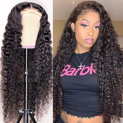 Human Hair Wigs Deep Wave Lace Front Wigs 100% Brazilian Virgin Human Hair