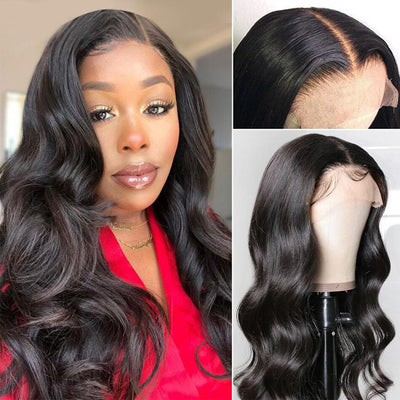 6 Inch Deep Part Lace Front Human Hair Wigs 13*6*1 Body Wave Frontal Wigs