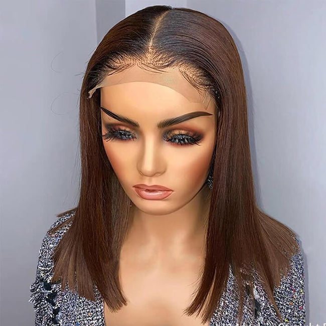 4x4 Ombre Lace Closure Wig Short Bob Human Hair Wigs LCW0104
