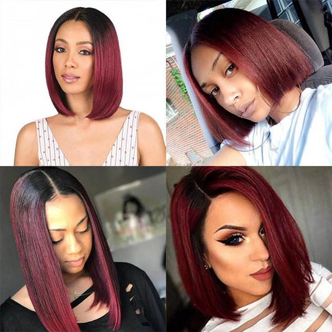 customer share for ombre burgundy wigs