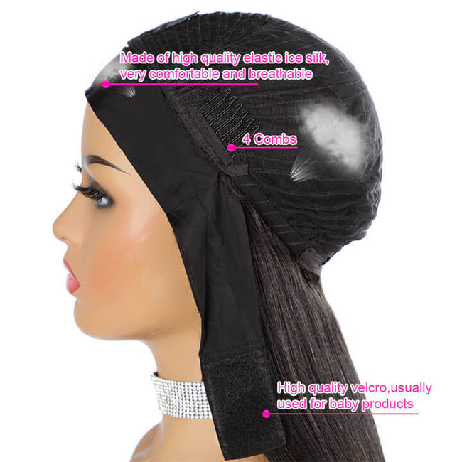 Head Band Wig Water Wave Human Hair Wigs Non Lace Front Wig For Women Gluless Brazilian Virgin Hair Wigs
