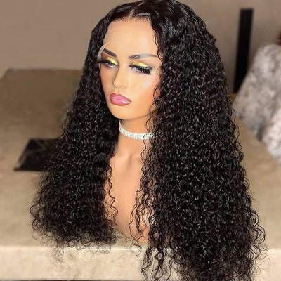 deep curly t part lace wig