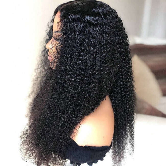 Kinky Curly Lace Closure Human Hair Wigs For Black Women Remy Brazilian Hair Wigs (2)