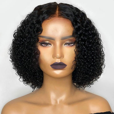 SHORT CURLY Closure Wigs