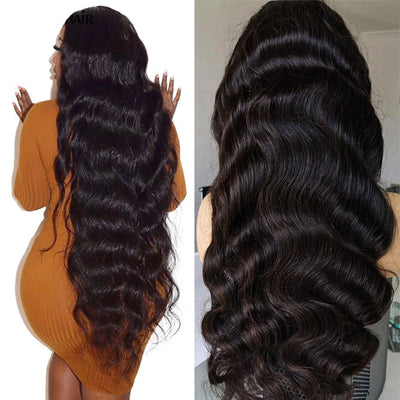 30 inch wig Body Wave Human Hair Lace Closure Sew In Wigs