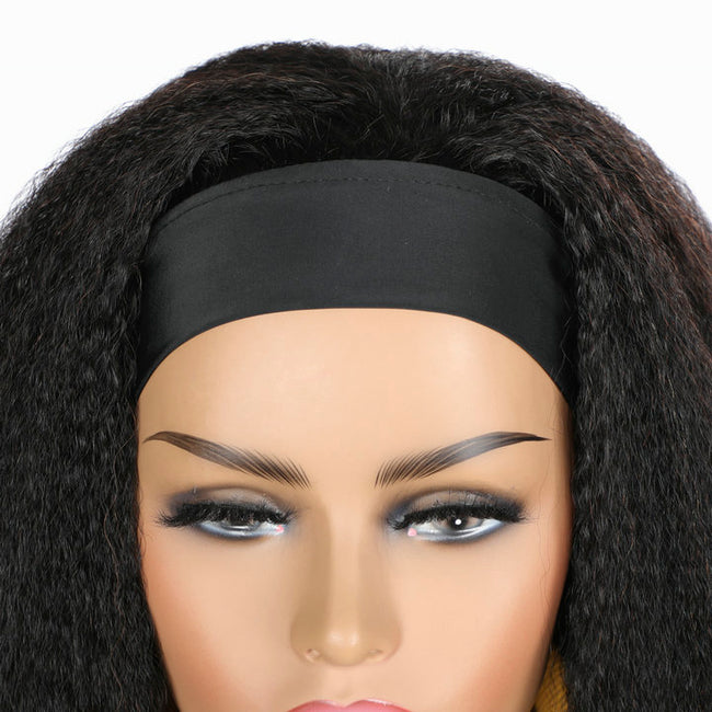 Headband Wig With Elastic Ice Silk, Very Comfortable and Breathable
