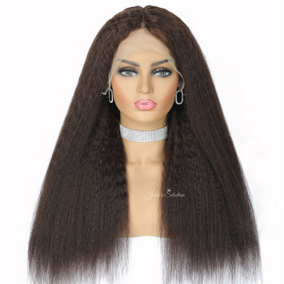Brown Hair Lace Front Human Hair Wigs 6 Inch Deep Part HD Transparent Lace Wigs