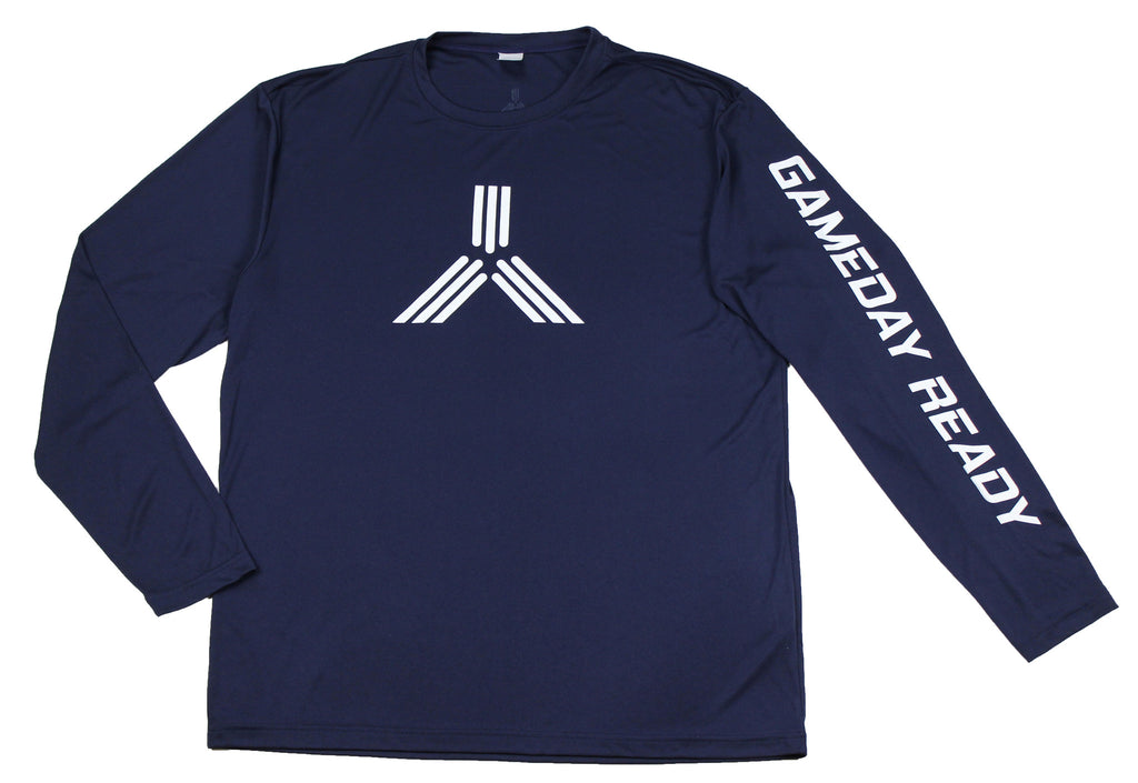 NAVY BLUE / WHITE GDR Long Sleeve