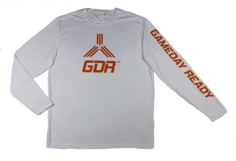 WHITE / ORANGE GDR Long Sleeve