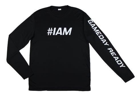 BLACK / WHITE  #IAM Long Sleeve Shirt