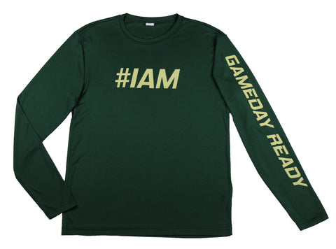 GREEN / GOLD  #IAM Long Sleeve Shirt