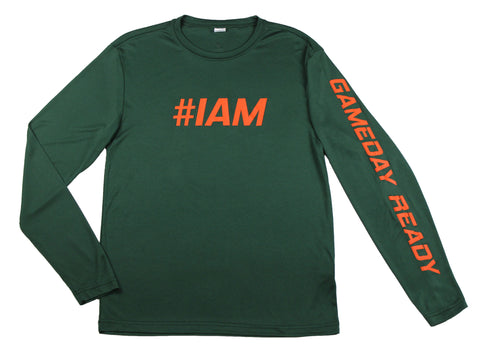 GREEN / ORANGE  #IAM Long Sleeve Shirt