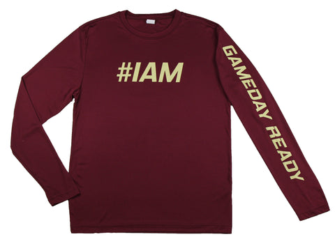 MAROON / GOLD  #IAM Long Sleeve Shirt