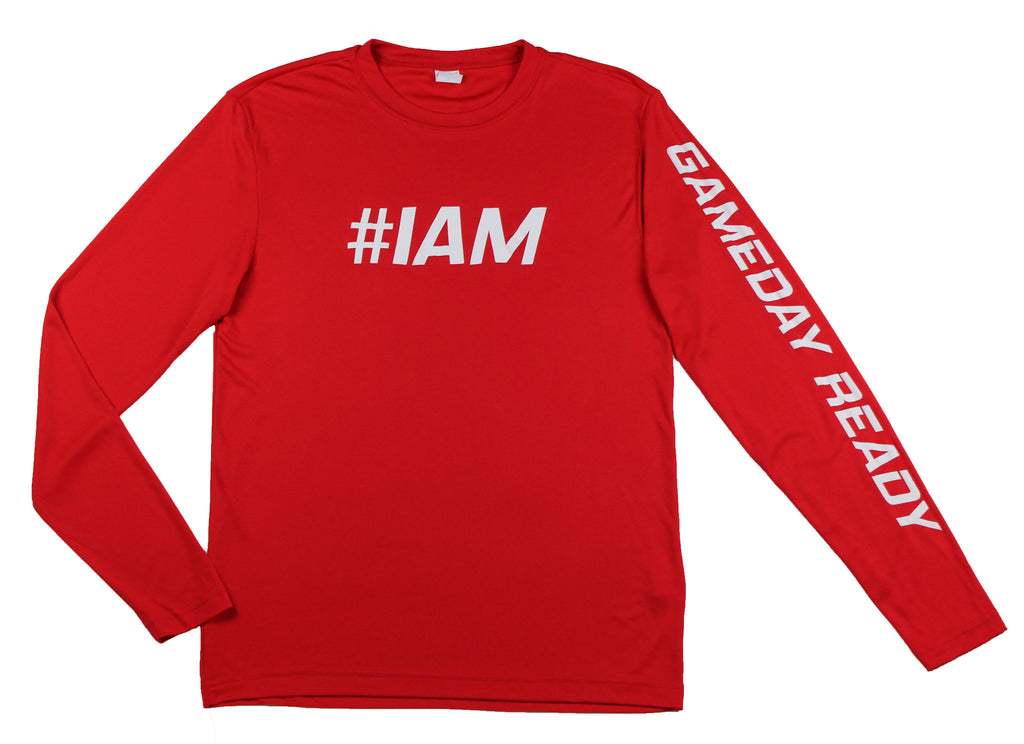 RED / WHITE  #IAM Long Sleeve Shirt