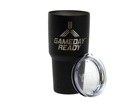 GameDay Ready Black Powder Coated YETI Tumbler