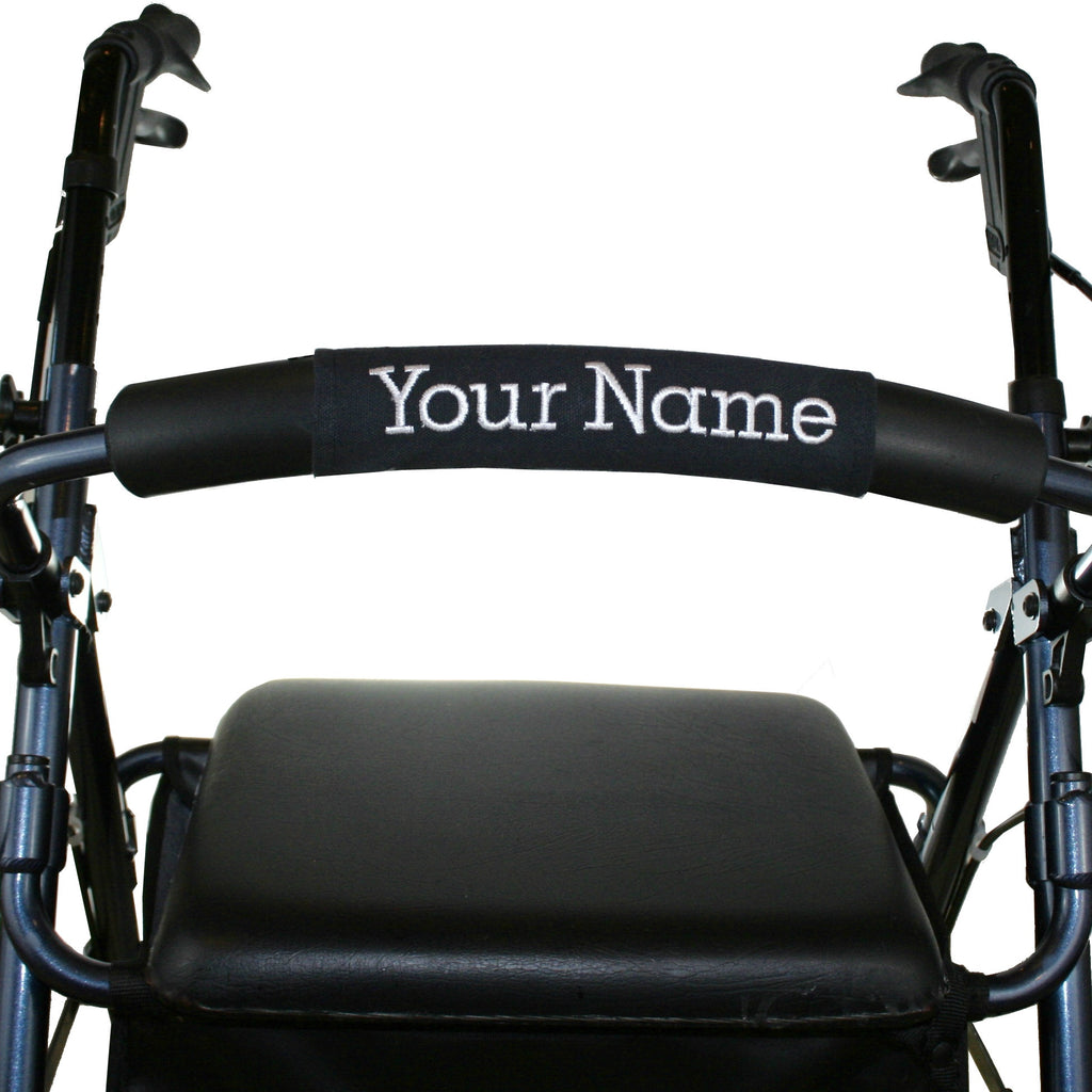 Personalized Walker Nameplate in Black - A walker accessory from Jeanne And Anne