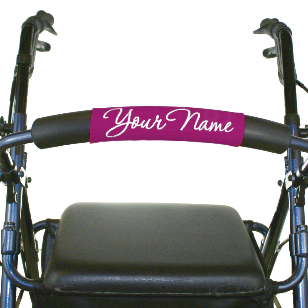 Personalized Walker Nameplate in Pink - A walker accessory from Jeanne And Anne
