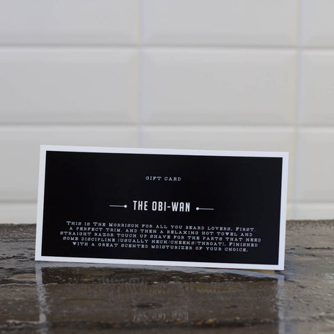 Giftcard The Obi-wan: Shave or beardtrim + cleanse