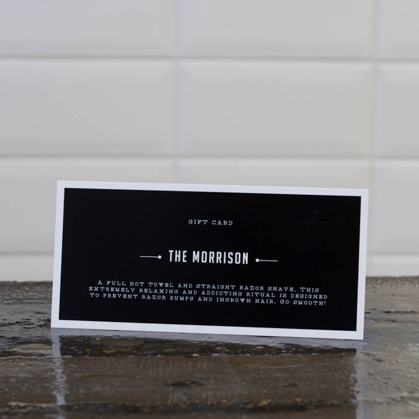 Giftcard The Morrison: Classic wet shave