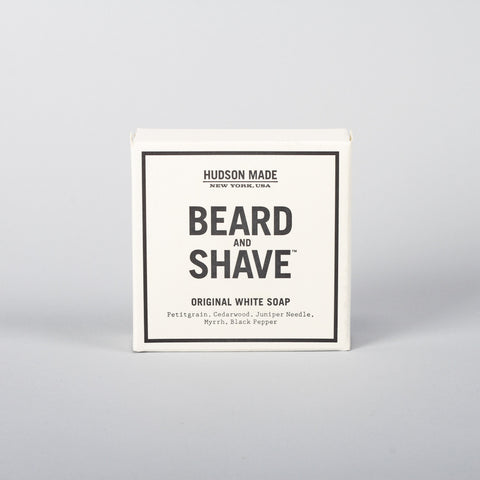 Hudson Made beard & shave, Original White Soap