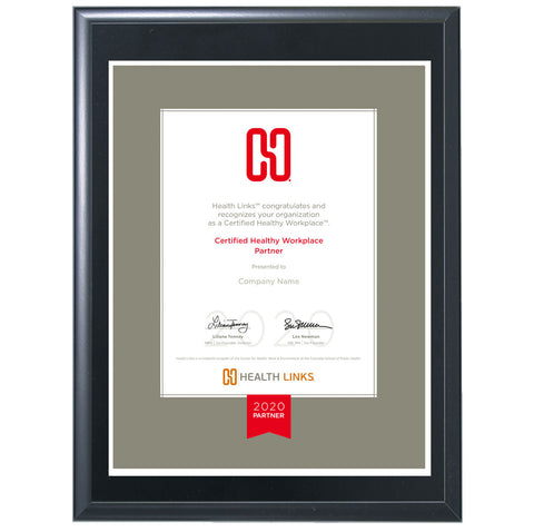 Certified Healthy Workplace™ Partner Plaque