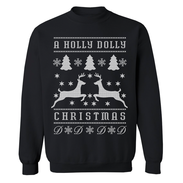 A HOLLY DOLLY CHRISTMAS CREWNECK