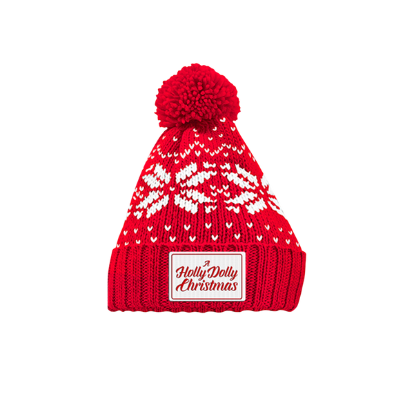 A HOLLY DOLLY CHRISTMAS BEANIE