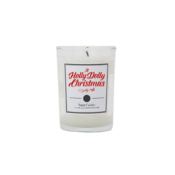 A HOLLY DOLLY CHRISTMAS SUGAR COOKIE SCENTED CANDLE