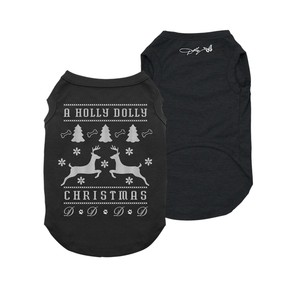 A HOLLY DOLLY CHRISTMAS DOG TEE