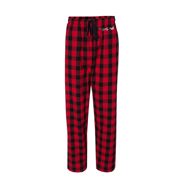 A HOLLY DOLLY CHRISTMAS FLANNEL PAJAMA BOTTOMS