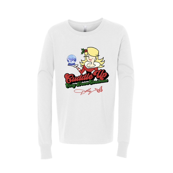 CUDDLE UP, COZY DOWN CHRISTMAS YOUTH LONG SLEEVE