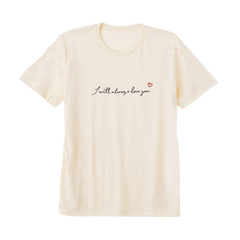 I WILL ALWAYS LOVE YOU EMBROIDERED OATMEAL TRIBLEND TEE