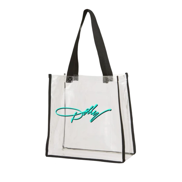 DOLLY SIGNATURE CLEAR VINYL TOTE BAG