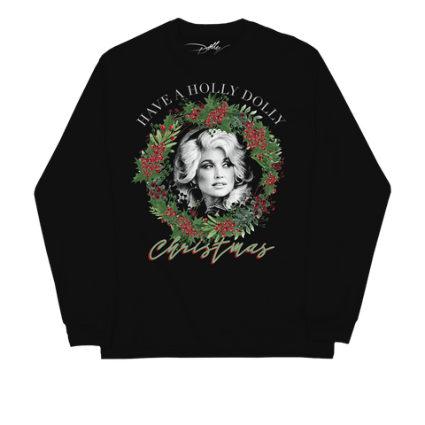 HOLLY DOLLY BLACK CREWNECK