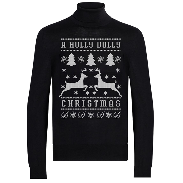 A HOLLY DOLLY CHRISTMAS TURTLENECK