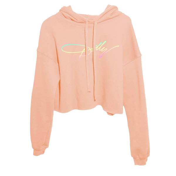 DOLLY SIGNATURE CROP PINK HOODIE