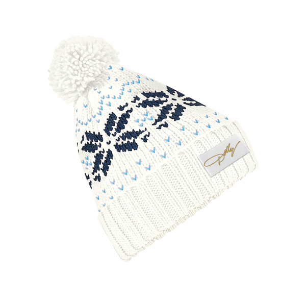 DOLLY SNOWFLAKE POM HAT