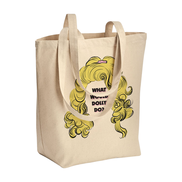 WWDD SHAG GUSSETED TOTE BAG