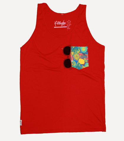 Fruit Pocket Tank - Red with Shades
