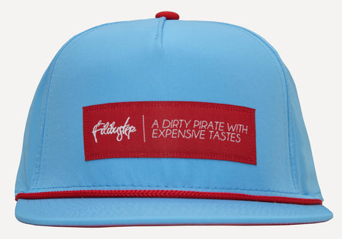 Baby Blue x Red Nylon Snapback