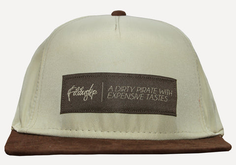 Brown Suede and Tan Snapback