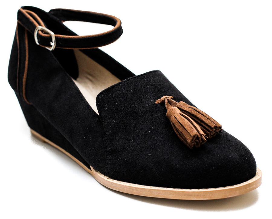 Bryden Wedge Loafer in Black