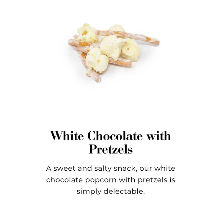 White Chocolate with Pretzels